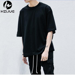Wholesale Tees Half Sleeves - Hot Style Summer T-shirt Streetwear Half Sleeve O-neck Kanye Tops Tees Oversize man justin bieber tshirts urban clothing