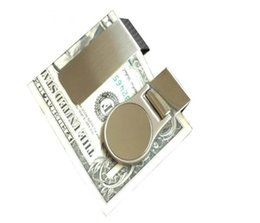 Wholesale Diy Paper Clip - DIY Blank Money Clip Credit Card Holder Silver Stainless steel Money Wallet Clip Clamp Card Holder DHL FEDEX Free Shipping