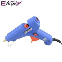 Wholesale Hot Hair Gun - LOOF Wholesale 60W 110-240V Hot Glue Gun Electric Heating Hot Melt Glue Gun Tools For Keratin Fushion Hair Extensions