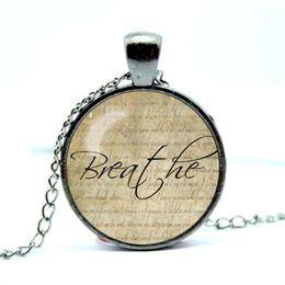 Wholesale Wholesale Inspirational - 10pcs lot Faith Necklace, Word Pendant, Inspirational Jewelry Glass Cabochon Necklace