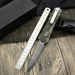 Nuovo 2017 4 acciaio di Damasco doppio sottile lama in lega di zinco maniglia dritto salto coltello pieghevole automatico tattico campeggio utility alpinismo da