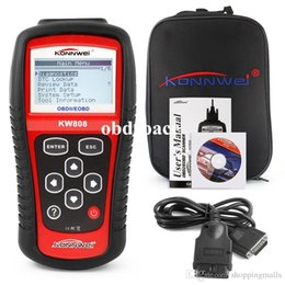 Wholesale Diagnostic Tools Trucks - KW808 Vehicle Diagnostic Tool OBD2 OBDII LCD Scantool Auto Truck Diagnostic Scanner Computer Vehicle Fault Code Reader Scan