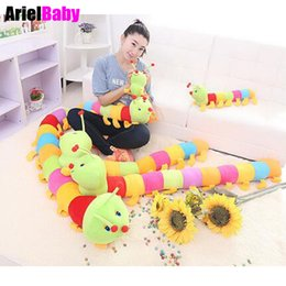 Wholesale Stuffed Animal Caterpillars - New Baby Education Toy Caterpillar Stuffed Animal Plush Doll Millipedes Pillow Millennium Bug Gift 50cm-2m
