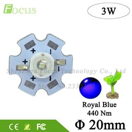 3w blue bead Coupons - High Power 45mil LED Grow Light 3W Royal Blue LED 440nm Light Beads With 20mm PCB For Plant Vegetable Flower Fruit Growing
