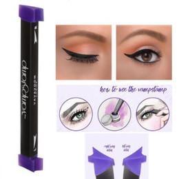 Wholesale Eyeliner Makeup Eye Beauty - Vamp Stamp Eyeliner Seals Beauty Makeup Tools Eyeliner Stencils Eye Liner Tool Without Ink CCA6655 120pcs