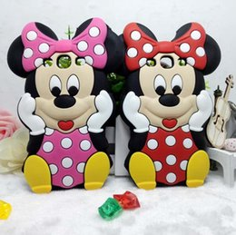 Wholesale Galaxy S4 3d Cartoon Cases - 3D Cute Cartoon Mickey Minnie Mouse Silicone Rubber Back Cover Phone Case For iPhone 5 5S 6 6S 7 Plus Samsung Galaxy S3 S4 S5 S6 S7 Edge J7