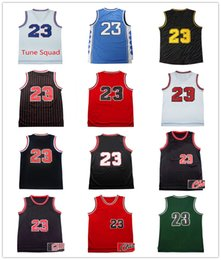 Wholesale Men Shirt Red Xxl - Men's 100% Stitched Top quality #23 Jerseys Classical Black Red White Basketball Jersey embroidered Logos Cheap sports shirts