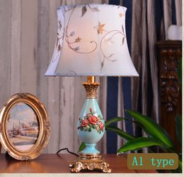 Wholesale White Princess Bedding - European desk lamp bedroom bedside lamp princess creative retro living room hotel bedside table lamp give free a picture frame