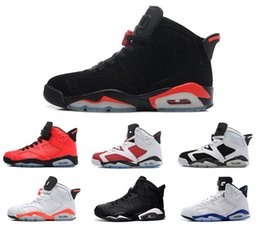 Wholesale Online Media - New 2017 mens basketball shoes 6 black cat Angry bull carmine infrared oreo red olympic sneaker shoes online us size 8-13