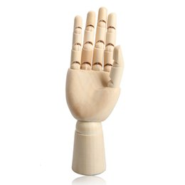 Wholesale Graphics Artists - 186cm Wooden Artist Articulated Right Hand Model Gift Art Alternatives SKETCH Hand Flexible Decoration