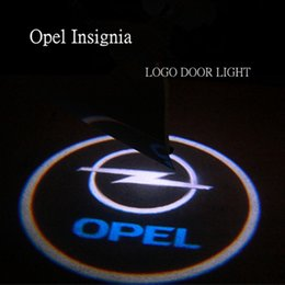 Wholesale Opel Led - CAR LED ghost shadow light car logo projector door light for Vauxhall Opel Insignia