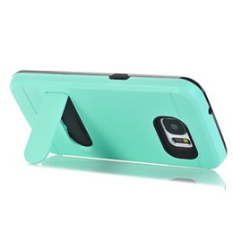 Wholesale Hard Plastic Id Case - For Samsung Galaxy NOTE8 S7 EDGE ON5 O5 G550 MOTO G4 Brush Hard PC TPU Case ID Card Slot Hide Stand Holder Hybrid Armor Cover Skin Luxury