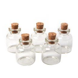 Wholesale Glass Message Bottles - Hot 5Pcs lot Mini Messages Wishing Glass Bottle Clear Transparent Bottles Cork 4ml