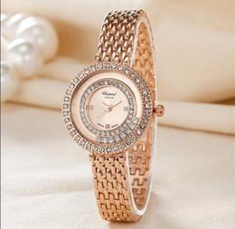 Wholesale Gold Steel Watch Chain - Fashion Brand Women Diamond Watches Stainless Steel Ladies Chain Wrist Watch Luxury Bracelet Watch relogio
