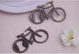 Wholesale Bike Bottle Aluminum - 100PCS LOT Vintage Metal Bicycle Bike Shaped Wine Beer Bottle Opener For Cycling Lover Wedding Favor Party Gift Present