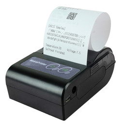 Wholesale Mini Printers - Freeshipping Mini Wireless Bluetooth Receipt label Thermal Mobile Printer Line thermal printing For IOS Android windows EU adpater