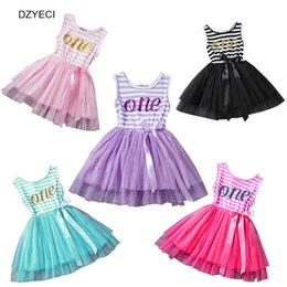 Wholesale Striped Infant Tutu - Summer Infant Girl Lace TUTU Dresses Xmas Baby Toddler Newborn Vest Striped Bow Patchwork Party Princess Frock Costume Clothes 1-3 Year
