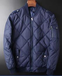 Wholesale Eiderdown Coat - Men's POLO fashionable eiderdown cotton-padded jacket Sleeveless vest Brand ma3 jia3 coat Men's Small horse super light feather jacket