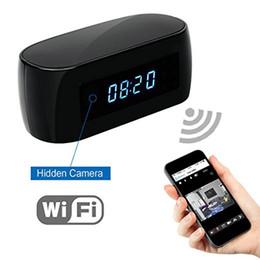 Enregistreur électronique en Ligne-HD 1080 P Wifi caméra avec affichage de l'heure Horloge électronique DV Caméscope Détection de mouvement P2P Mini caméra IP Enregistreur vidéo pour la livraison gratuite