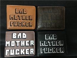 Wholesale Ladies Vintage Style - PULP FICTION REAL LEATHER EMBROIDERED BROWN BAD MOTHER F**KER WALLET