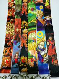 Cinghie anime online-Dragonball Anime Lanyard KeyChain ID Badge Portacellulare per cellulare
