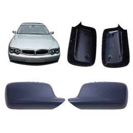 Wholesale Side Door Mirror Covers - 2PCS Rearview Mirror Cover Door Side Wing Caps Case for BMW E46 E65 E66 323i 328i 330i 745i 750i 760i Car Styling #W031