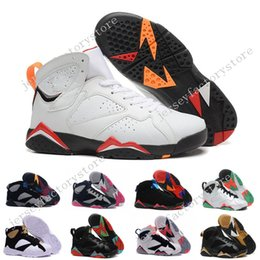 Wholesale Medium Graphite - Hot New mens Basketball Shoes Retro VII 7 Bordeaux Graphite Sneakers Men Sports Shoes Discount Basketball Boots Athletics US 8-13 with box