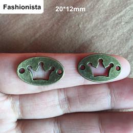 Wholesale Antique Bronze Charms Crown - Fashionista - 90 pcs Jewelry Accessories Antique Bronze Vintage Alloy Hollow Crown Pendant Charms Connector 12*20mm Crown Connectors