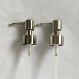 Wholesale Soap Dispenser Pumps Wholesale - 304 Stainless Steel Pump Cover Soap Dispenser Nozzle Pumps Bonnet Lid Liquid Lotion Extrusion Tool Free Freight 4 5sh C