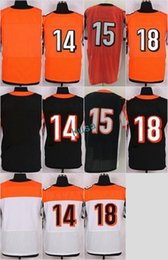 Wholesale Andy Dalton - Elite Stitched Blank #15 John Ross 14 Andy Dalton 18 AJ Green White Black Orange Green Mix Order Home Road Jerseys Drop Shipping