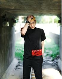 Wholesale T Shirt Luhan - 2017 New Fashion exo Luhan RELOADED black fashion top lovers t shirt women casual print t-shirts black sleeve
