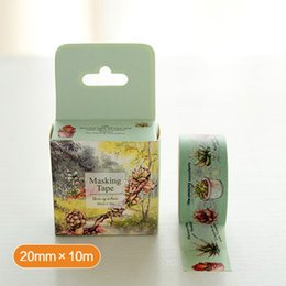 Wholesale Book Plants - Wholesale- 2016 1Pc Succulent Plant Series Masking Tape Book Decor Scrapbooking Card Adhesive Washi Tapes Paper Stickers DIY Crafts 20mm*1