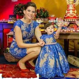 Wholesale Mother Daughter Dresses Outfits - You May like Mother Daughter Dress For Bithday Dress Family Matching Outfits Princess Kids and Mother Dresses Wear Prom Parenting Dress