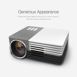 Wholesale Movie Projectors For Home - Wholesale-GM50 80LM 480 x 320 Pixels Home Theater Mini Projector for Video Games TV Movie LED Proyector Support HDMI VGA AV MHL 3D Beamer
