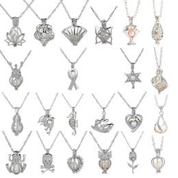 Fixations pour pendentifs en Ligne-18kgp Mode amour souhait perle / gem perles médaillon cages Pendentifs, BRICOLAGE Perle charme pendentifs montages 50pcs