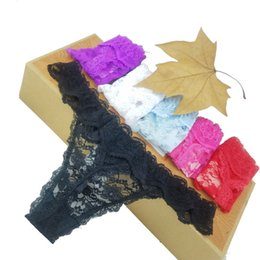 Wholesale Good Quality Wholesale Panties - Good quality Cotton three cat Women's Sexy Thongs G-string Underwear Panties Briefs For Ladies T-back 1pcs Lot,zhx99
