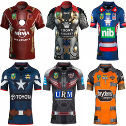 Wholesale Manning Broncos - 2017 NRL National Rugby League Newcastle cknights Brisbane Broncos Melbourne Storms Tigers Sea Eagles Cowboys jerseys Dragons Rugby Shirts
