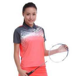 Wholesale Table Tennis Shirts Women - New Badminton Shirt Sportswear Quick Dry Breathable Women Men Table Tennis Clothes Team Game Short Sleeve POLO T Shirts