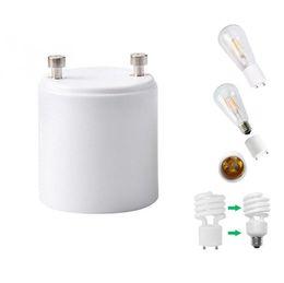 Wholesale Socket Base Holder E27 - In Stock!! GU24 to E26 GU24 to E27 Lamp Holder Converter Base Bulb Socket Adapter Fireproof Material LED Light Adapter Converter