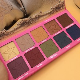Wholesale Eye Shadow Palette Pigment - 1pc high quality Newest Jeffree five star cosmetics androgyny palette eye shadow Pigment 10 colors eyeshadow palette in stock free shipping