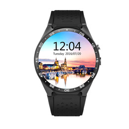 Wholesale wifi smart watches - Wholesale- Kw88 android 5.1 OS Smart watch electronics android 1.39 inch mtk6580 SmartWatch phone support 3G wifi nano SIM WCDMA