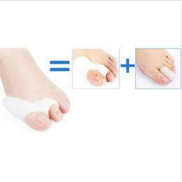 Wholesale Bunion Toe Spreader - 1 Pair=2 Pcs Gel Silicone Bunion Corrector Big Toe Separators Straightener Spreader Foot Care Tool Hallux Valgus Pro massager
