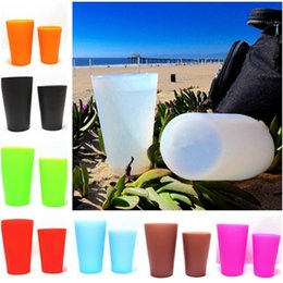 Wholesale fda form - Silicone Cups Wine Cups Unbreakable Drinking Glasses Party Picnic Drinking Cups Outdoor cup Travel Beer cup IA568