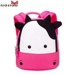 Wholesale Cow School Bags - NOHOO New Arrival Animals Kids Baby Bags Waterproof Kindergarten 3D Cow School Bags For Girls Cute Cartoon School Bags