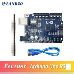 Wholesale Arduino Usb Cable - LANDZO 2017 high quality UNO R3 MEGA328P CH340G for Arduino UNO R3 Compatible Improved version,expert version with USB CABLE