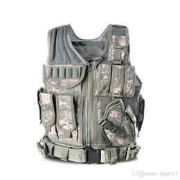 chalecos Rebajas 2017 Nuevo Chaleco Táctico Al Aire Libre Camuflaje Body Armor Sports Wear Chaleco de Caza Ejército Swat Molle Tank Tops