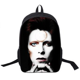 Wholesale beatles style - Wholesale- David Bowie Backpack Women Men Rock Band The Beatles   Queen Backpacks For Teenagers Boys Girls Daily Bag Children School Bags