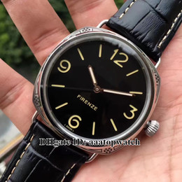 Wholesale Top Selling Digital Watches - HOT Selling !TOP Brand 47mm Black dial PAM00604 Mechanical Hand-winding P3000 Movement Men's Leather strap Watch pam604 Gents wristwatch