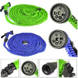 Wholesale Expandable Flexible Water 25ft - 25FT 50FT 100FT Expandable Flexible Garden Water Hose Garden Hose For Car Water Pipe Plastic Hoses To Watering With Spray CCA6701 50pcs