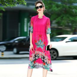Canada Nouveaux modèles d'été pour femmes 2017, jupes Cheongsam, tempérament lâche, grande robe en soie, une de la part de Offre